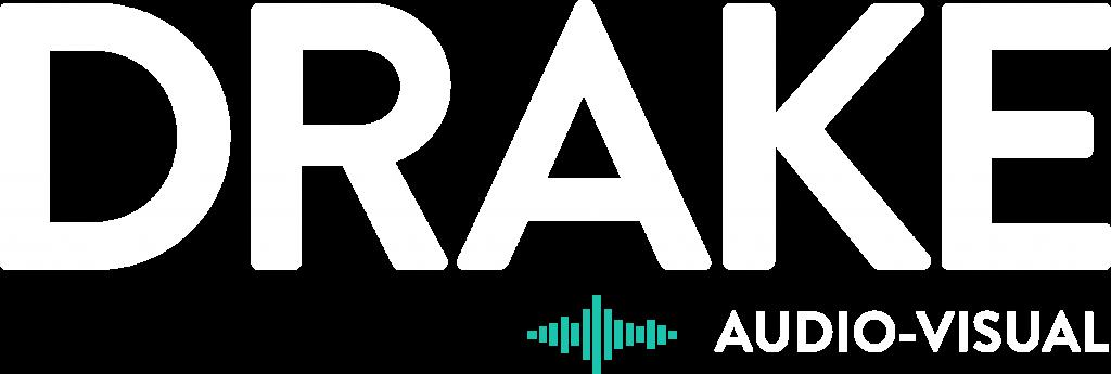 Drake Logo White&Teal - Drake Audio Solutions