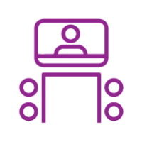 Video Conferencing Purple