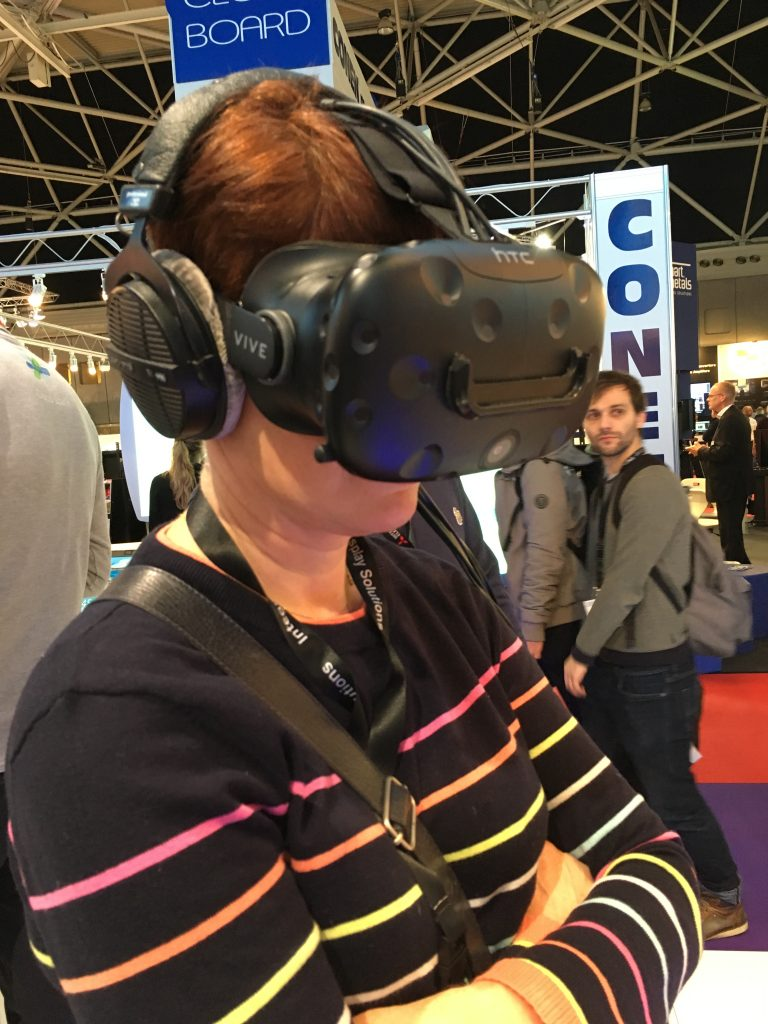 Girl Wearing a Virtual Reality headset, XR Reality, ISE