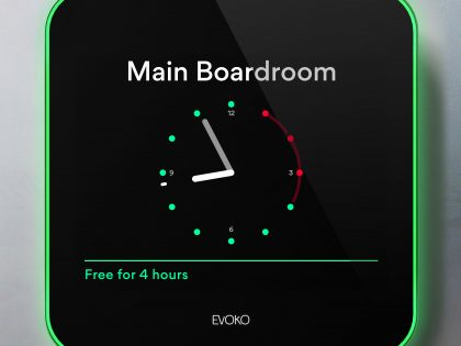 Evoko room booking display